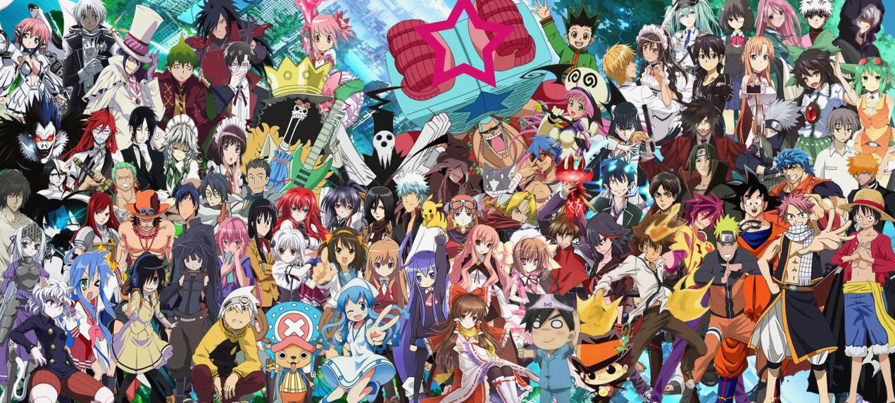 Black Cartoon Wallpaper 55 Image Collections Of: En Çok Sevilen Anime Karakterler