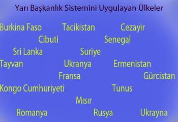 Yarı Başkanlık Sistemi ile Yönetilen Ülkeler