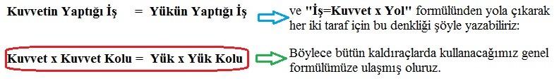 kaldirac-formul