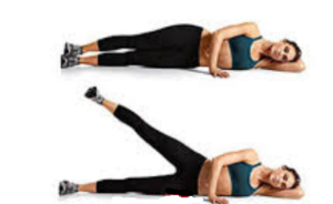 Yan yatarak sol ve sağ bacak açma hareketi